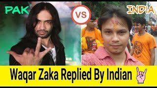 Waqar Zaka Best Replied by Indian -  Living On The Edge - Nitin Uploader Trolls Waqar Zaka