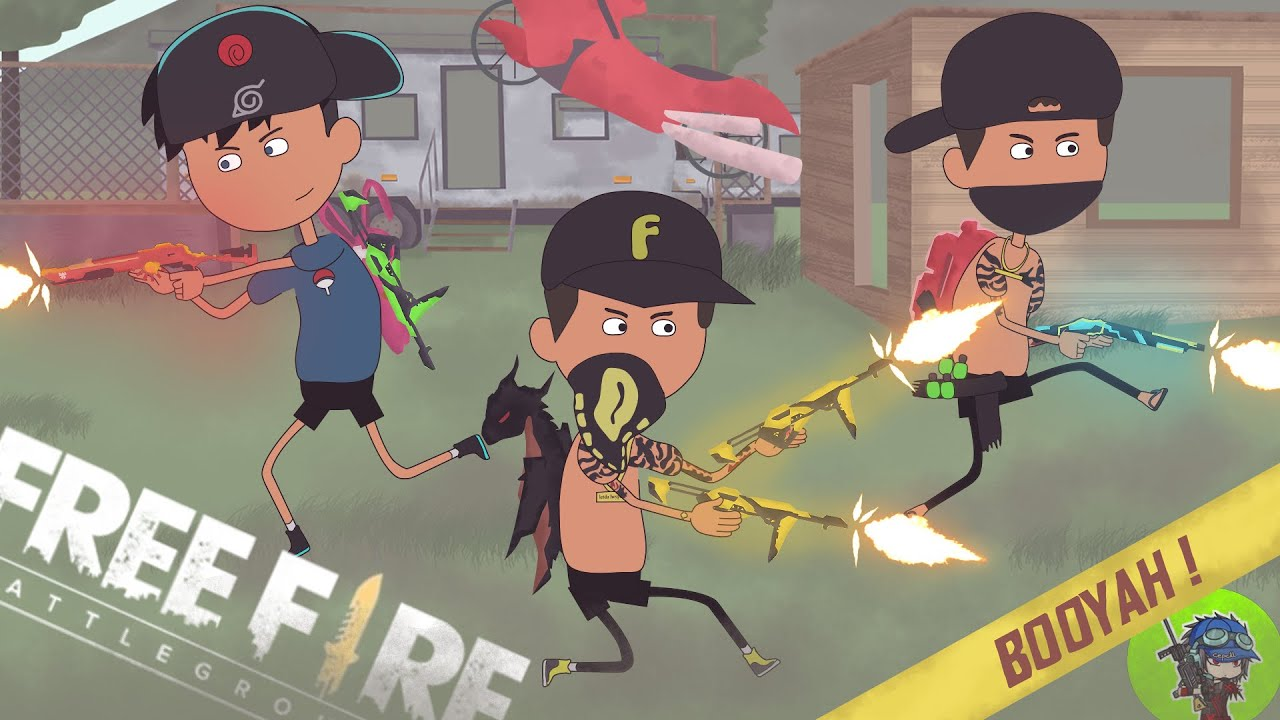 free fire animation - gocekan @cepcil satu server purgatory bersama @letda hyper - kartun ff