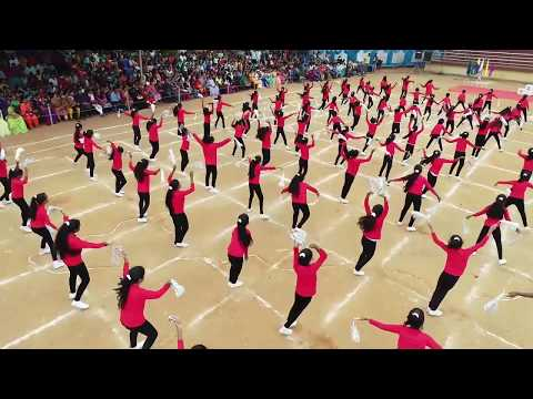 Zumba Performance for sports day  by V.I.P School students