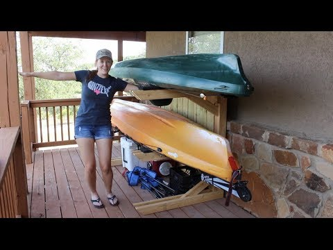 Diy Board Racks How To Build An Inexpensive But Strong Surfboard Sup Or Kayak Storage Rack Youtube