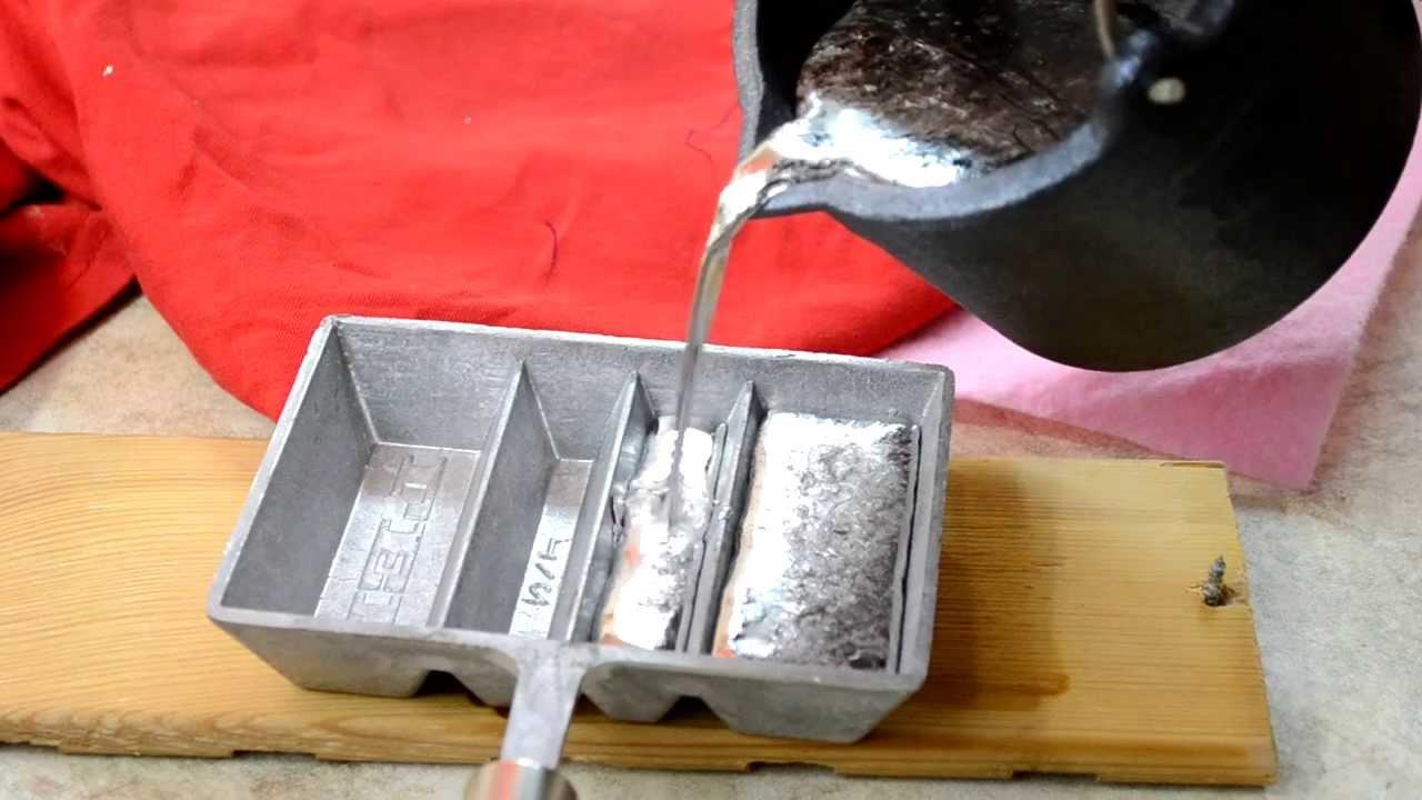 Lyman Lead Pot, Lee Ingot Mold, Melting Lead, Making Ingots