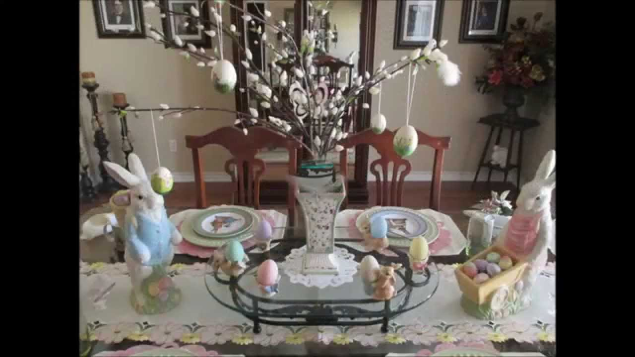 Easter spring decor home tour 2015 youtube for Easter decorations ideas for the home