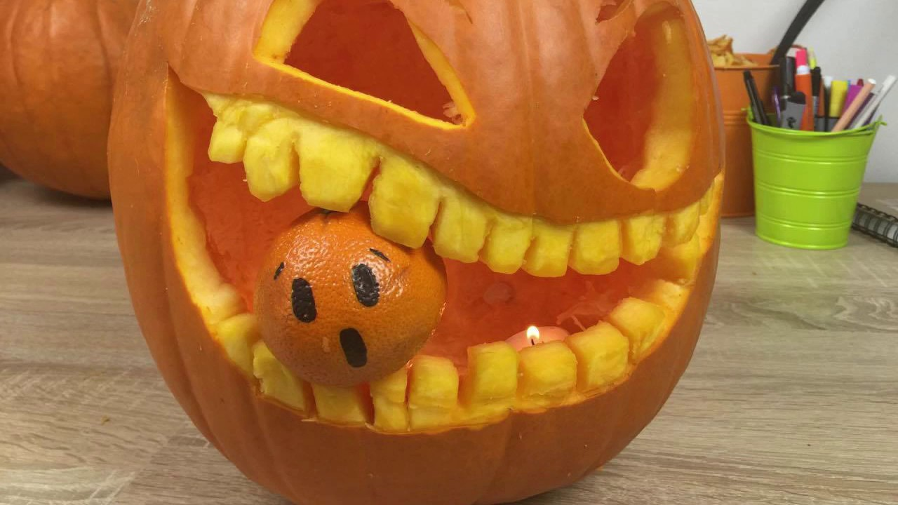 come intagliare la zucca di halloween - tutorial - youtube