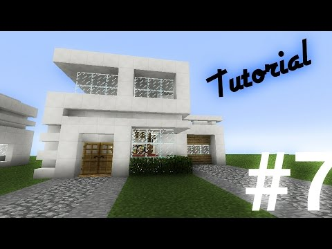 Como hacer una casa moderna de cuarzo 14x12 en minecraft - Como se hace una casa de madera ...