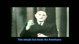 De Gaulle sees the PROBLEM U.S. dollar as world currency -1965  (Eng Captions)
