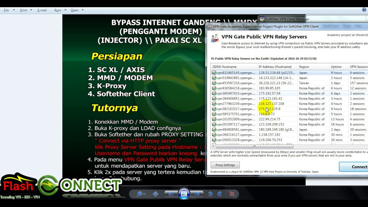 BYPASS INTERNET GANDENG MMDX K PROXY DAN SOFTETHER
