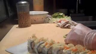 How To Make A Crunchy Shrimp Roll @ Sushivids.com
