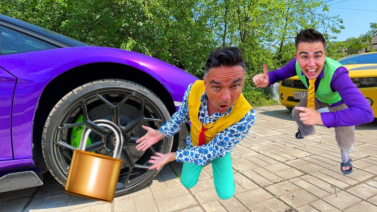 Mr. Joe Secured Wheel with Lock VS Older Mr. Joe on Lamborghini Roadster 13+