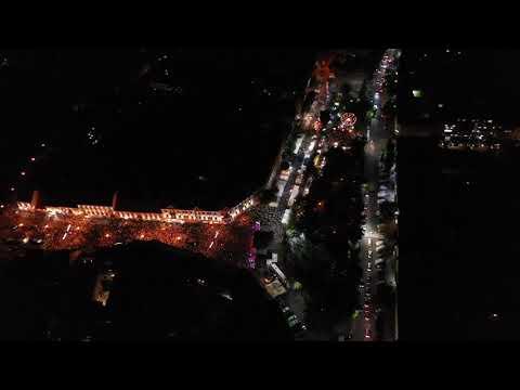 Ужгород Праздничный концерт к дню города С высоты птичьего полета