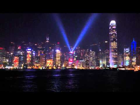 "Hong Kong's ""A Symphony of Lights"" (幻彩詠香江) at the Victoria Harbor (720p HD)"