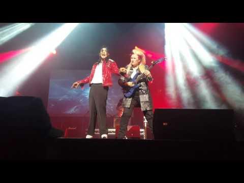 Michael Jackson impersonator Navi ft. Jennifer Batten. Beat It. Cliffs Pavillion, Southend. 11/5/17.
