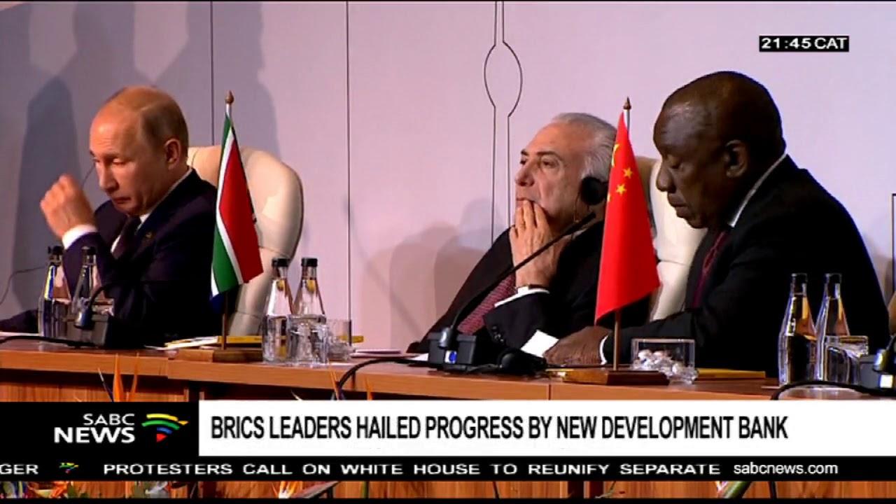 BRICS leaders hail progress made by the New Development Bank