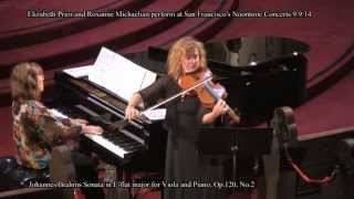 Elizabeth Prior and Roxanne Michaelian perform: J. Brahms Sonata in E-flat major Op.120, No.2 Thumbnail