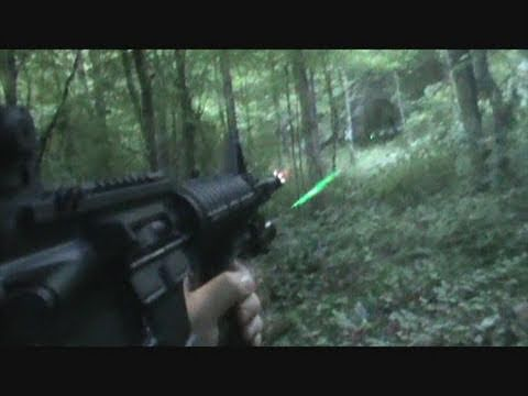 First Person Ar 15 Green Laser On Steel Youtube