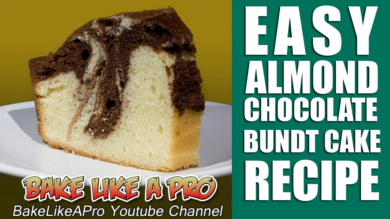 EASY Almond Chocolate Marble Bundt Coffee Cake Recipe - YouTube