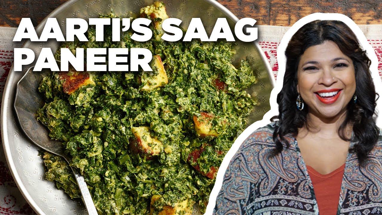 Aarti Sequeira Recipes Food Tv aarti sequeira's 5-star saag paneer | aarti party | food network