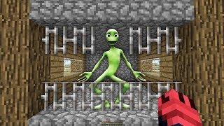 YEŞİL UZAYLIYI YAKALAYIP HAPİSE ATTIM - Minecraft (Dans Eden Uzaylı)