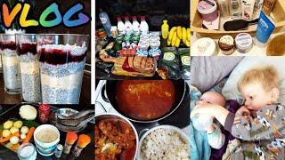 VLOG Кулинарный влог Десерт Чиа пудинг Худею и считаю калории Уход за телом Посылка 18 11 19