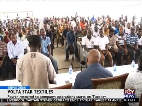 Volta Star Textiles - News Desk on Joy News (19-5-15)