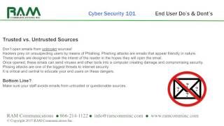 Cyber Security 101: Do's And Dont's