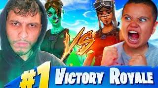 1V1 MY LITTLE BROTHER VS IRL TRASHTALKER WINTER ROYALE WINNER!!! FORTNITE **EXPOSED**