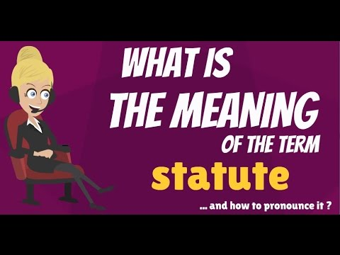 What is STATUTE? What does STATUTE mean? STATUTE meaning, definition & explanation