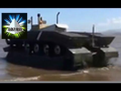 DARPA Amphibious Tank ☕ CAAT Water Tank Vehicle Air Transporter Incredible Tank 👽 Military Vehicle