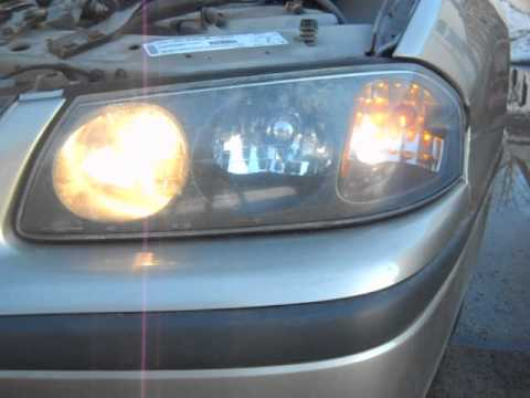 2001 Chevrolet Impala Problem With Headlights Passengers Not On