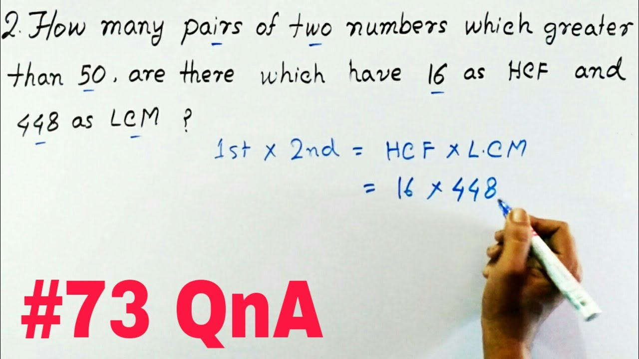 lcm and hcf Lcm and hcf exercise - mathematics or quantitative aptitude questions answers with solutions for all other competitive exams.