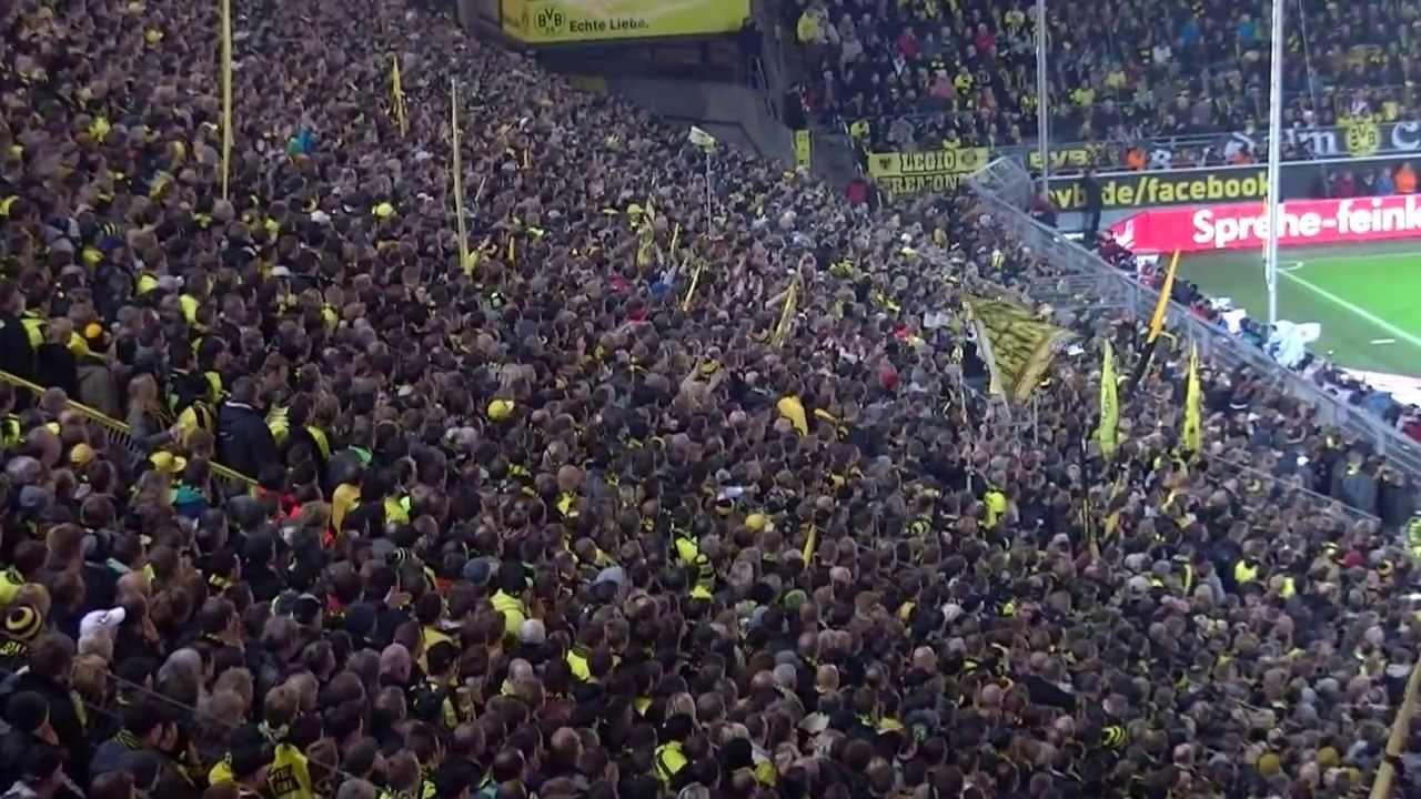 Stimmung Südtribüne: Borussia Dortmund - VfB Stuttgart 6:1 (BVB Lewandowski 2013)
