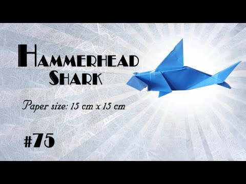 Origami Tutorial How To Fold Origami Hammerhead Shark Step By Step