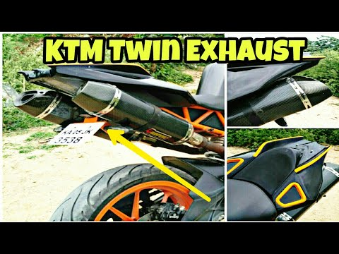 Modified KTM RC 390 With Twin Exhaust By Full Throttle Customs