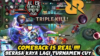 PUSH RANK BERASA KAYA TURNAMEN RRQ VS ALTER EGO - Wild Rift Indonesia