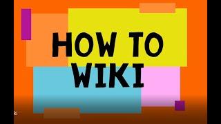 Online Skills: How t๐ Wiki