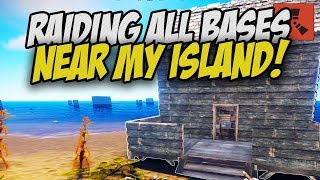 Raiding ALL the BASES around my ISLAND! - Rust Solo Survival Gameplay