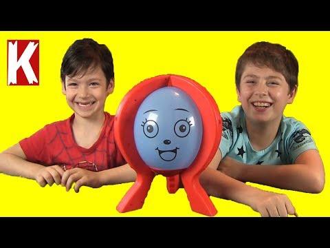 Шалун Балун Челлендж ВЕСЁЛЫЙ ШАР смешная детская игра Коля против Макса лопает шарики