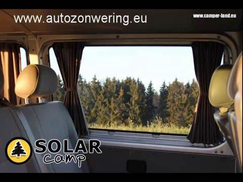 Gordijnen op rails VW Volkswagen T5 Transporter www.autozonwering.eu ...