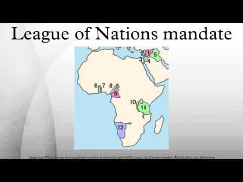 League of Nations mandate