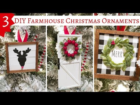 3 DIY Farmhouse Christmas Ornaments | Farmhouse Christmas Decor