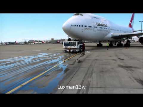 QANTAS 747-438 VH-OJA FINAL DEPARTURE FROM SYDNEY 7 December 2014
