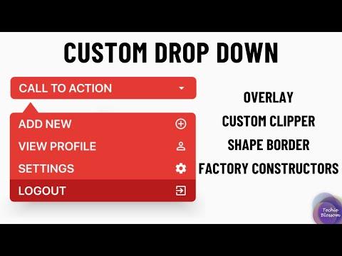 Custom DropDown   Flutter UI