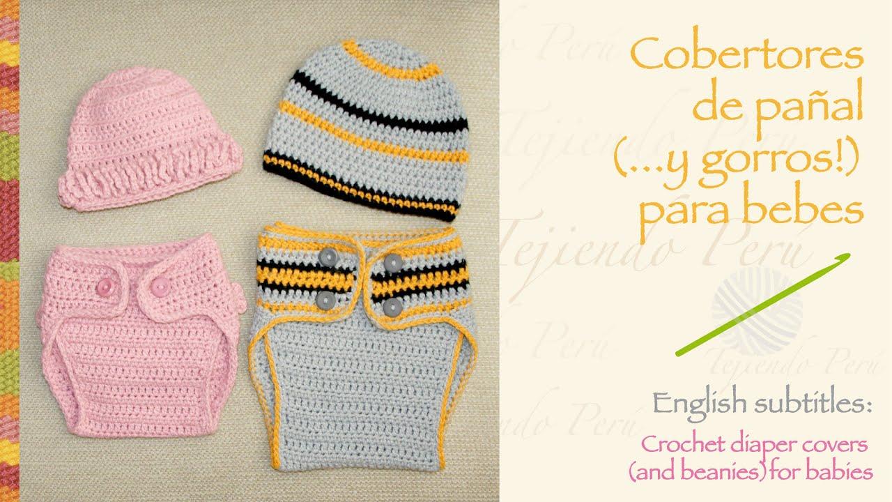 Cobertor de pañales tejido a crochet para bebés / Crochet diaper ...
