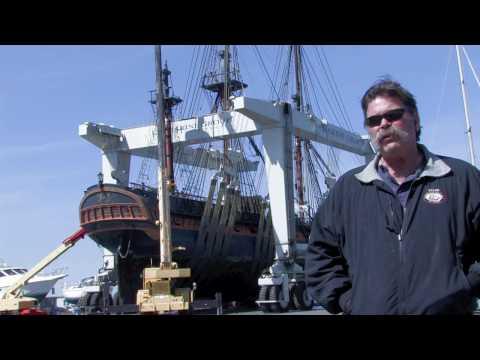 Replica Ship Sails Into Chula Vista's Marine Group Boat Works