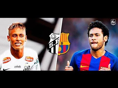 Neymar in Santos FC vs Neymar in FC Barcelona | HD