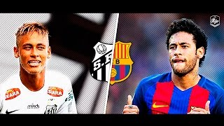 Neymar in Santos FC vs Neymar in FC Barcelona | HD