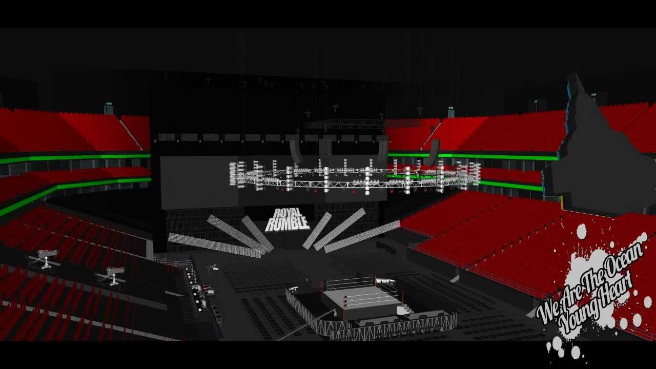 wwe royal rumble 2013 official stage youtube