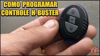 Como programar controle no alarme H-Buster