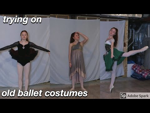 trying on my old ballet costumes + hating every minute of it