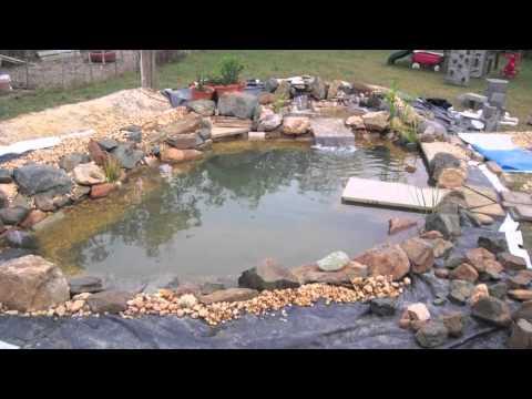 Diy koi pond using recycled billboard tarp youtube for Koi pond music
