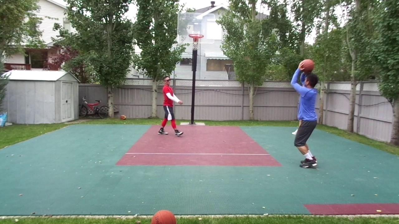 calgary backyard basketball game 1 10 17 16 youtube
